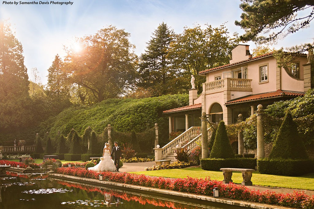 The italian villa at compton acres a multi award winning for Best new england wedding venues