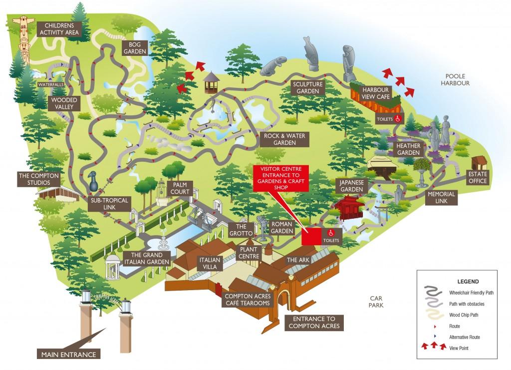 Compton Acres Map