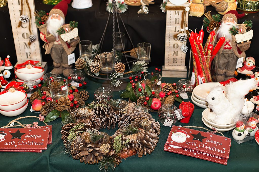 Christmas in Gifted moments at Compton Acres, Poole Dorset